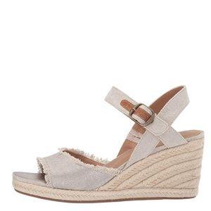 Lucky Brand Natural Mindra Espadrille Wedge Sandal